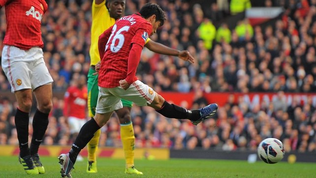 Shinji Kagawa struck three times against Norwich