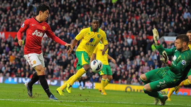 Shinji Kagawa scored a hat-trick against Norwich