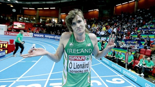 Ciaran O'Lionaird reacts to winning bronze this afternoon