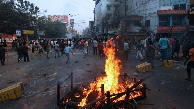 Activists clashed with police in Bogra, Bangladesh leaving at least eight dead