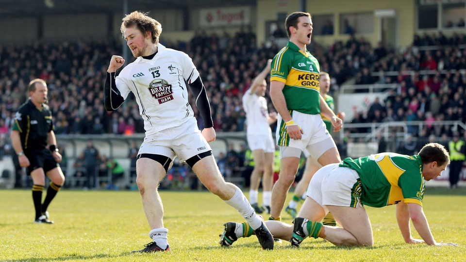 Seanie Johnston celebrates his goal against Kerry