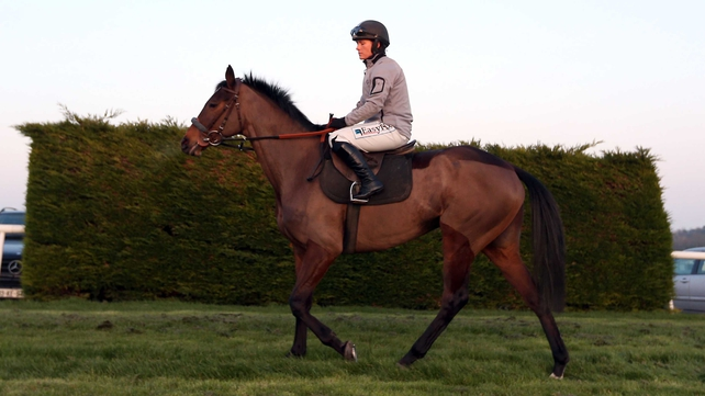 Katie Walsh on Quevega prior to the mare's Leopardstown gallop