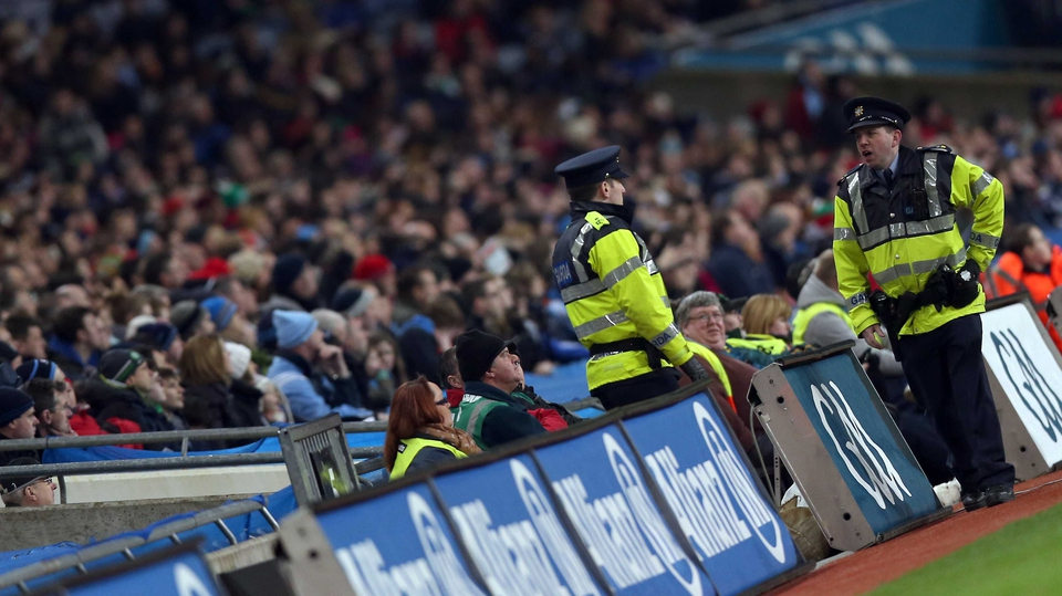 Gardaí on duty at Croke Park following the dispute over voluntering at Croke Park