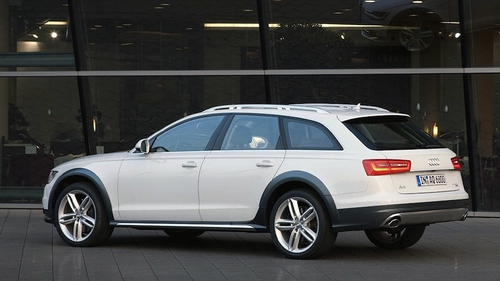 The white Audi A6 'Allroad' 3.0 TDI rolled off the assembly line at the Neckarsulm plant
