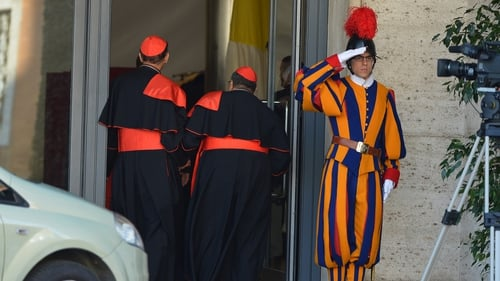 Catholic cardinals arrive for talks ahead of a conclave to elect a new pope