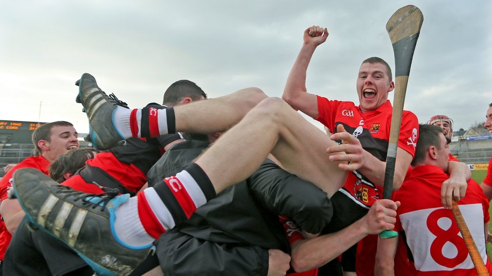 UCC's Stephen Maher celebrates after the victory over Mary Immaculate Limerick