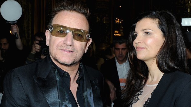 Bono, pictured with his wife Ali Hewson, supports Agit8