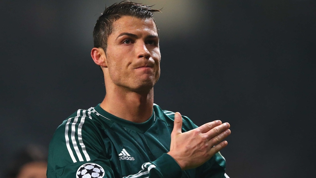 Cristiano Ronaldo salutes supporters at Old Trafford