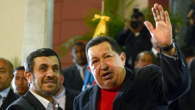 Iranian President Mahmoud Ahmadinejad may attend Mr Chavez's funeral