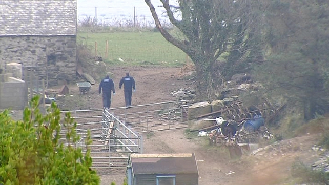 Gardaí have sealed off the area around the family's farm in Foilnamuck