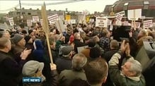 Protest outside turf cutting court case