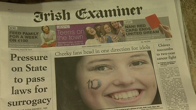 Webprint's contract to print The Irish Examiner was terminated after TCH went into liquidation