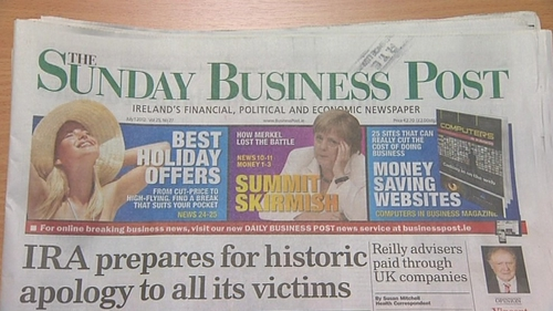 Advertising revenue at the Sunday Business Post has fallen by 68% in five years