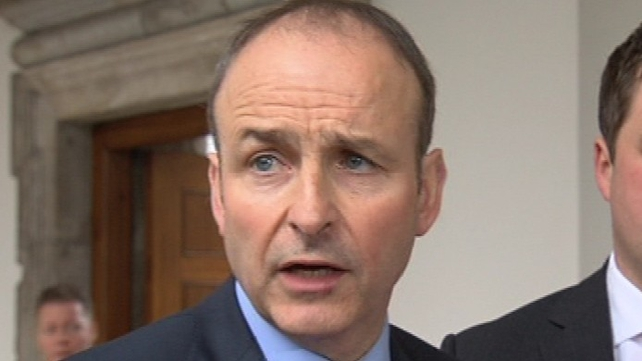 Micheál Martin was speaking at his party's 1916 commemoration at Arbour Hill