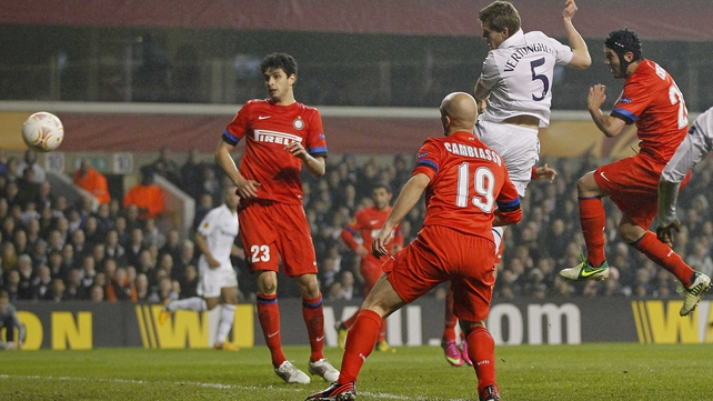 Jan Vertonghen headed Spurs 3-0 ahead in the 53rd minute