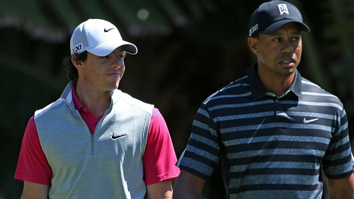 Rory McIlroy has been overtaken by Tiger Woods at the top of the world rankings just two weeks before the Masters