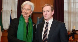 Christine Lagarde visiting Dublin today