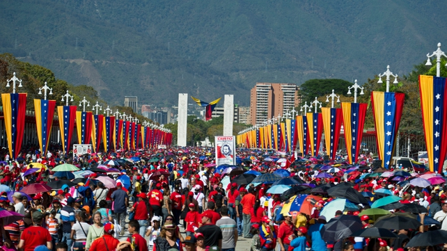 More than two million people have so far filed past Mr Chavez's coffin