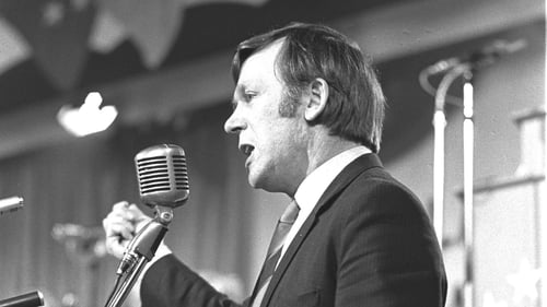 Seen here addressing a Labour Party Conference in 1971, Dr John O'Connell was first elected to the Dáil in 1965 (Pic: RTÉ Stills Library ©)