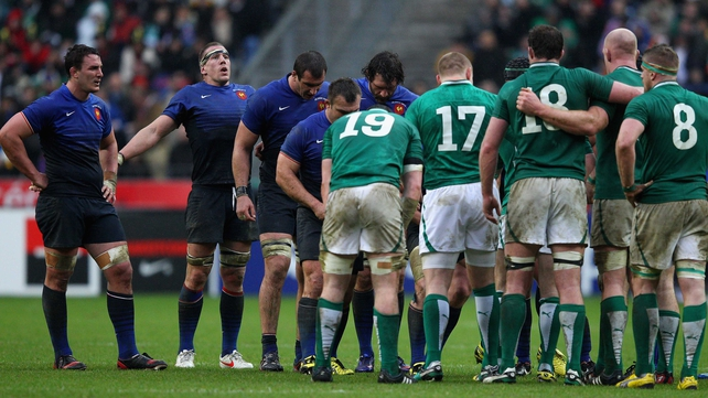 Ireland and France meet at 5pm on Saturday