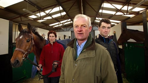 Trainer Willie Mullins has nine horses entered in the Irish Grand National