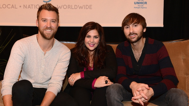 Hilary Scott with her Lady Antebellum bandmates, Charles Kelley and Dave Haywood