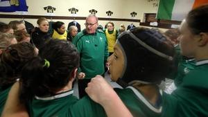 Philip Doyle addresses the Ireland team in 2013