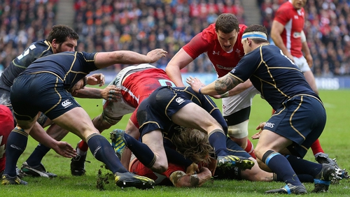 Richard Hibbard's try also proved key for the Welsh
