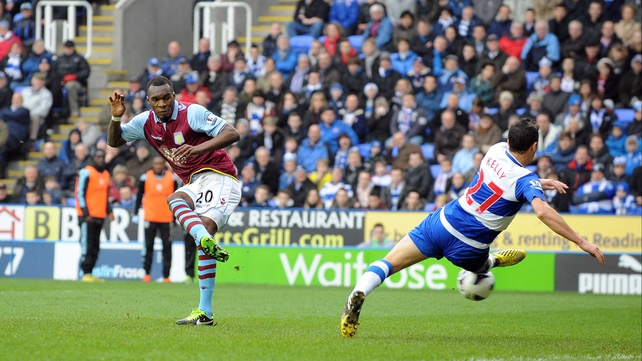 Reading's lead was only a minute old when Christian Benteke scored
