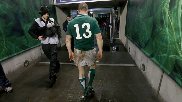 Brian O'Driscoll leaves the field of play