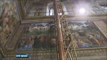 Sistine Chapel readied for conclave