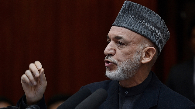 Hamid Karzai suggested the US benefited from Taliban attacks