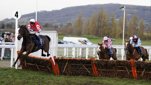 Promising novice hurdler Coneygree (leading) returned lame after work on Saturday