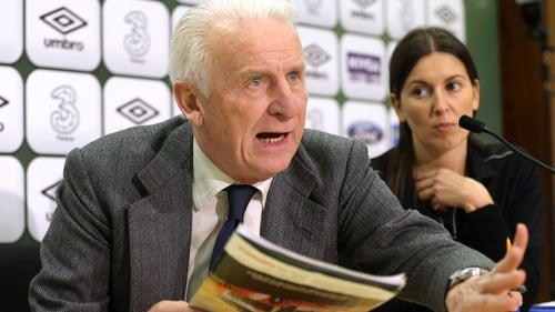 Giovanni Trapattoni claimed he 'always' used an interpreter when dealing with Irish journalists