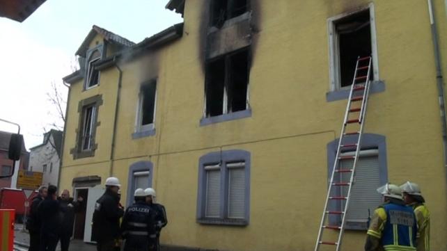 The blaze happened in Backnang, a town near Stuttgart