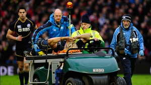 Richie Gray is stretchered off at Murrayfield