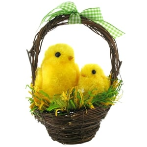 Two chicks in basket decoration, €11