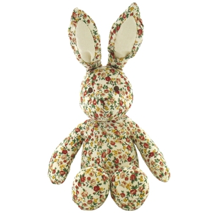 Ditsy floral rabbit, €11