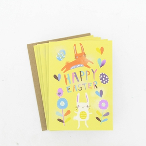 Happy Easter watercolour bunnies card pack, €3.50