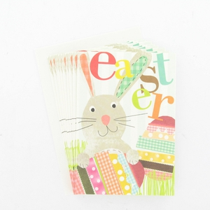 Easter rabbit with eggs card pack, €6