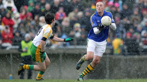 Kieran Donaghy of Kerry in the snow in Ballybofey yesterday