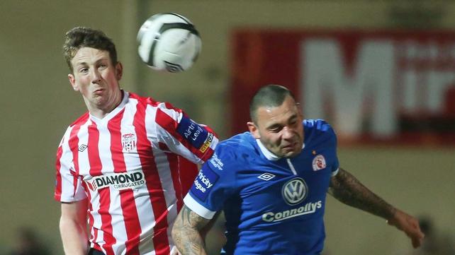 Goal machine Anthony Elding (right) was on target for Sligo Rovers against Limerick