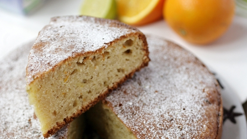 A wonderfully light, fluffy cake that's lightly fragranced with citrus.