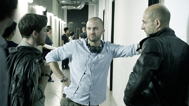 Director Creevy on set