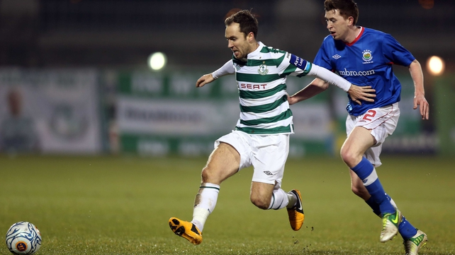 Sean O'Connor grabbed the Shamrock Rovers goal at Thomond Park