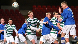 There was crowd trouble at Linfield versus Shamrock Rovers