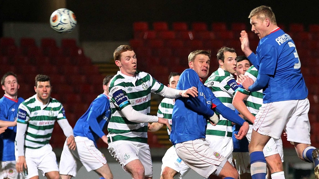 Linfield were beaten 7-2 by Shamrock Rovers in the 2013 competition
