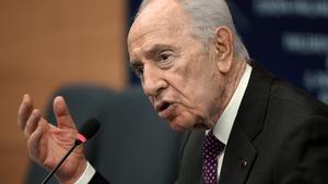 Shimon Peres also criticised Hezbollah