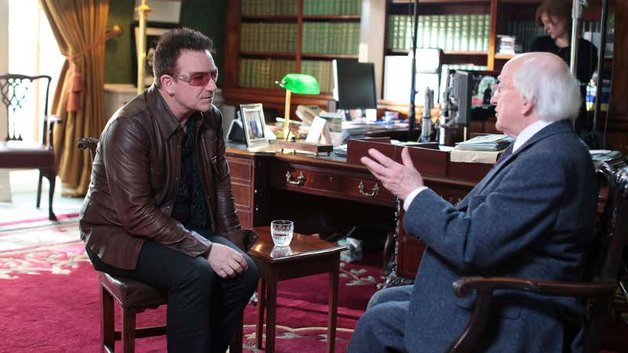 President Higgins and Bono