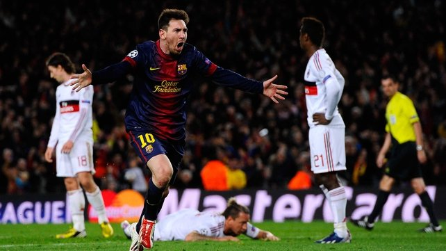 Lionel Messi's two goals put Barcelona on the way to another memorable win